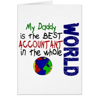 O melhor contador no mundo 2 (pai) cartão comemorativo