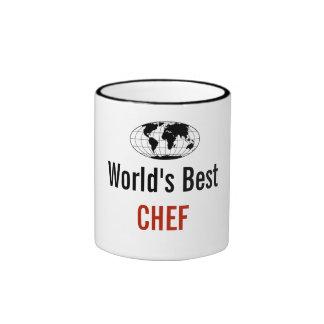 O melhor cozinheiro chefe do mundo caneca com contorno