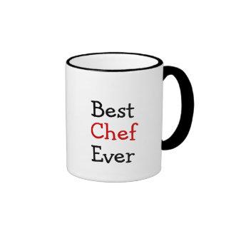 O melhor cozinheiro chefe nunca caneca com contorno