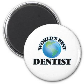 O melhor dentista do mundo ímã redondo 5.08cm