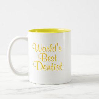 O melhor dentista dos mundos caneca de café em dois tons