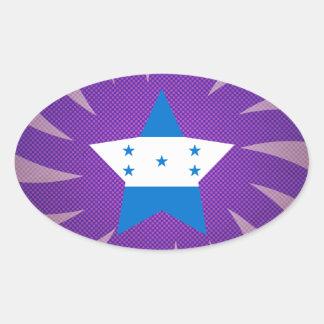 O melhor design da bandeira de Honduras Adesivo Oval