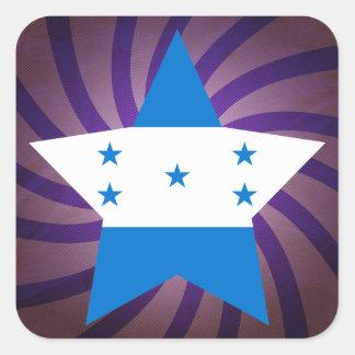 O melhor design da bandeira de Honduras Adesivo Quadrado