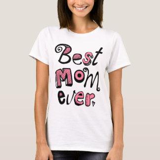 O melhor design de texto da mamã nunca camiseta