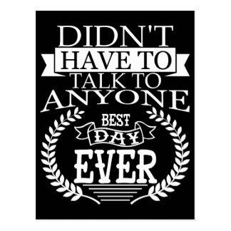 O melhor dia Introverts nunca o cartão