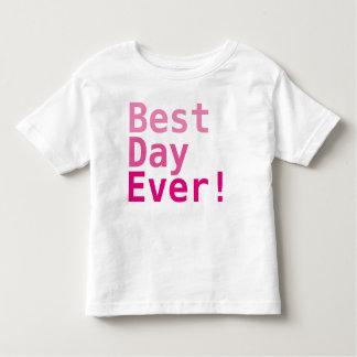 O melhor dia nunca! T-shirt fino do jérsei da Camiseta Infantil