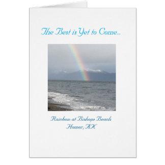 O melhor é vir ainda cartão do arco-íris