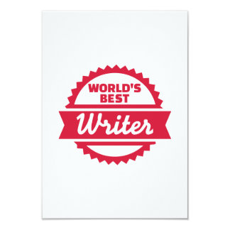 O melhor escritor do mundo convites personalizados