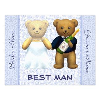 O melhor homem - convite de casamento do azul dos