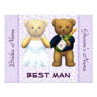 O melhor homem - convite de casamento do lilac dos