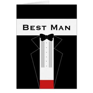 O melhor homem do smoking para o cartão feito sob