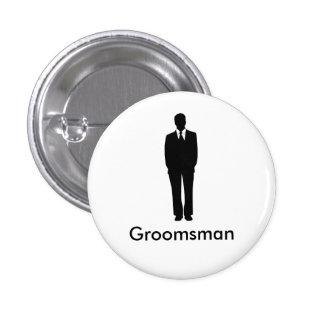 O melhor homem ou padrinho de casamento bóton redondo 2.54cm