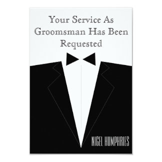 O melhor homem ou padrinho de casamento convidam convite 8.89 x 12.7cm