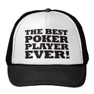 O melhor jogador de póquer nunca boné