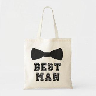 O melhor laço dos padrinhos de casamento do bolsa tote