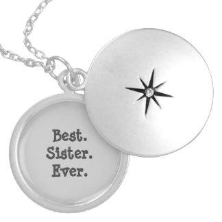 O melhor Locket da irmã nunca Colar Medalhão