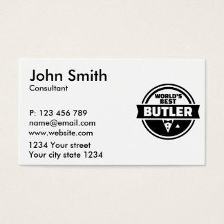 O melhor mordomo do mundo cartão de visitas