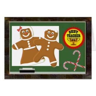 O melhor Natal do professor Cartão Comemorativo