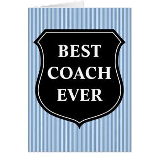O melhor obrigado do treinador nunca você cartão