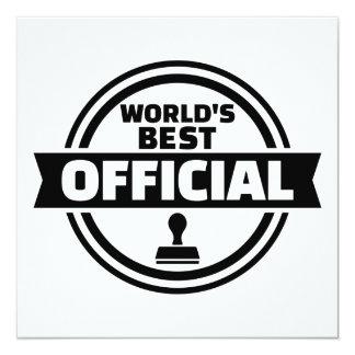 O melhor oficial do mundo convite quadrado 13.35 x 13.35cm