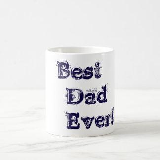 O melhor pai caneca de café sempre branca e azul
