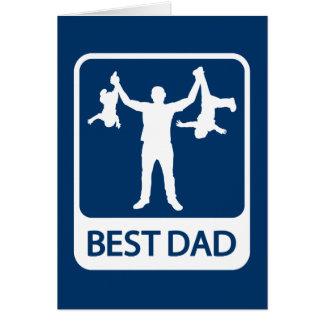 O melhor pai - cartão do dia dos pais/aniversário