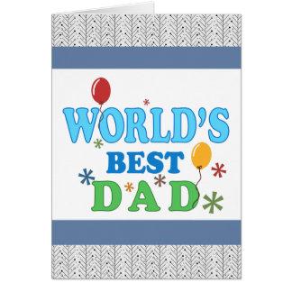 O melhor pai do mundo cartao