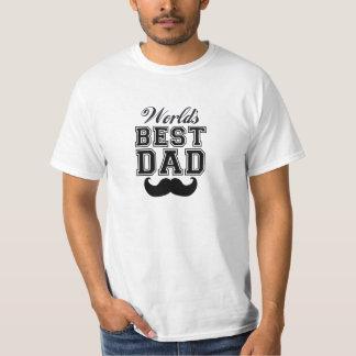 O melhor pai do mundo com bigode camiseta