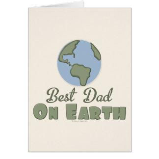 O melhor pai no cartão da terra