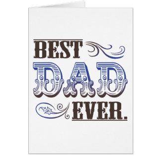 O melhor pai nunca. cartão