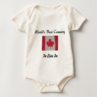 O melhor país do mundo a viver no bebê da bandeira macacãozinho