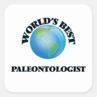 O melhor Paleontologist do mundo Adesivo Quadrado