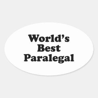 O melhor Paralegal do mundo Adesivo Oval
