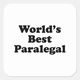 O melhor Paralegal do mundo Adesivo Quadrado