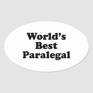 O melhor Paralegal do mundo Adesivos Em Formato Oval
