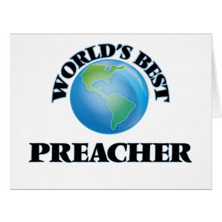 O melhor pregador do mundo cartão comemorativo grande