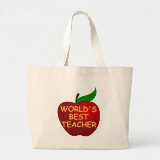 O melhor professor do mundo sacola tote jumbo