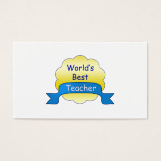 O melhor professor do mundo cartão de visitas