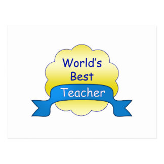 O melhor professor do mundo cartão postal