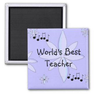 O melhor professor dos mundos ímã quadrado