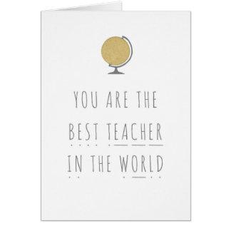 O melhor professor no cartão da fónica do mundo