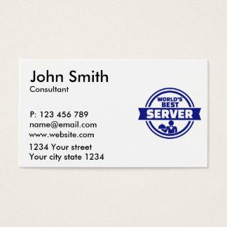 O melhor servidor do mundo cartão de visitas