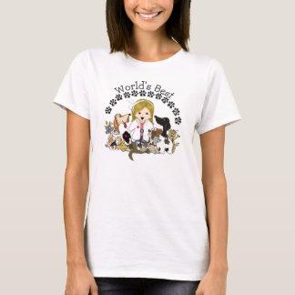 O melhor veterinário do mundo - cabelo louro fêmea camiseta