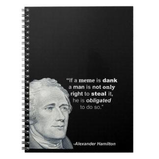 O Meme húmido de Alexander Hamilton - caderno
