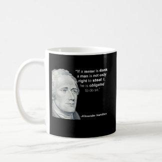O Meme húmido de Alexander Hamilton - caneca