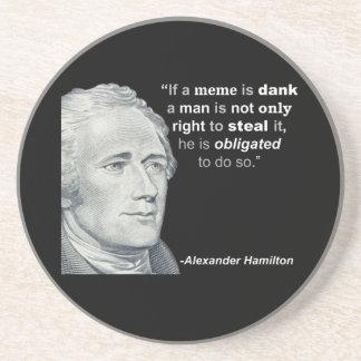 O Meme húmido de Alexander Hamilton - porta copos