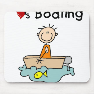 O menino da vara ama o barco mouse pad