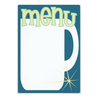 o menu do café convida convite 12.7 x 17.78cm
