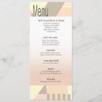 O menu | do casamento de praia do vintage do art