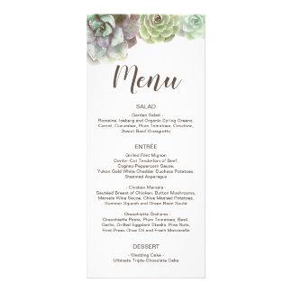 O menu Wedding dos Succulents | da aguarela e